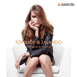 Cara Delevingne in the Topshop at Zalando campaign